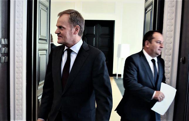 Donald Tusk (z lewej) i Tomasz Arabski