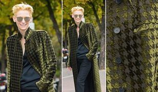 LOOK OF THE DAY: Tilda Swinton w płaszczu Haidera Ackermanna