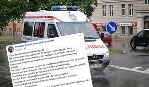 Wezwanie od 11-letniej Eli odebrał ratownik medyczny Tomasz Modrzewski