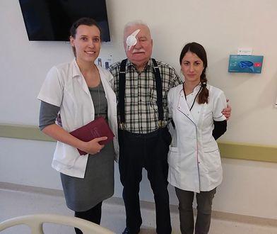 Lech Wałęsa po zabiegu