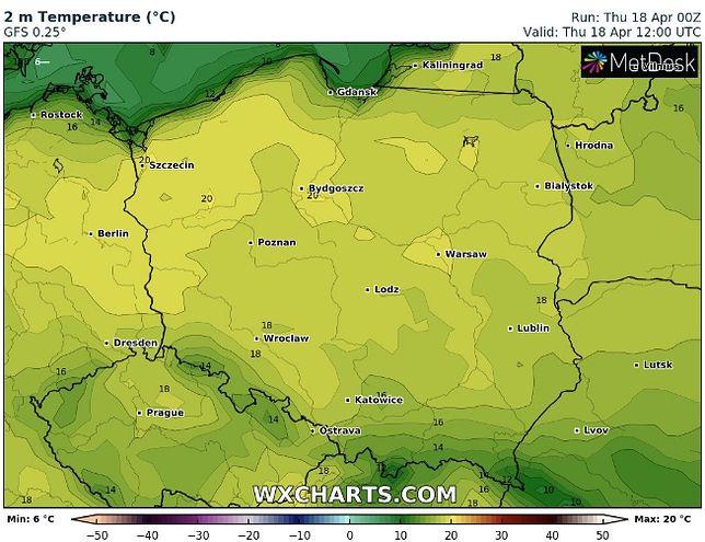 Czeka nas niezwykle pogodny i ciepły czwartek