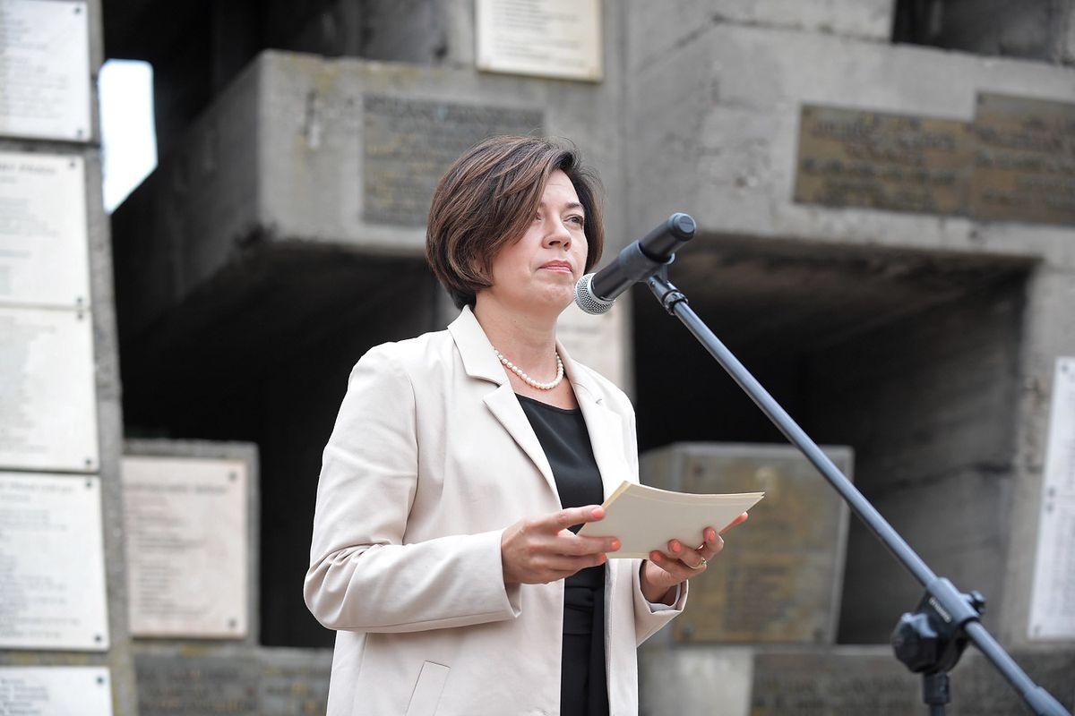 Warszawa. Burmistrz Ochoty Katarzyna Łęgiewicz, 2018 r.