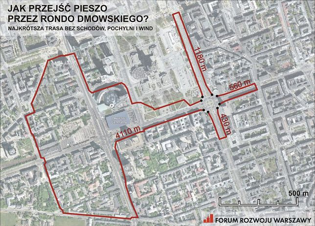 Jak przejść przez Rondo Dmowskiego?