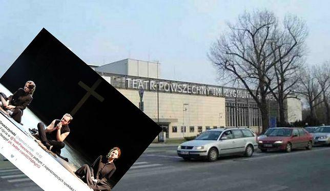 Spektakl Teatru Powszechnego. Seks oralny na scenie i zbiórka pieniędzy na zabójstwo Kaczyńskiego