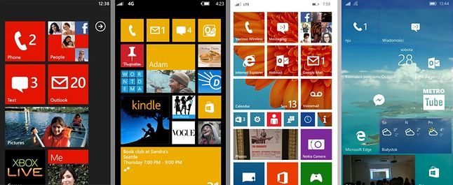 Windows Phone 7.0 -> Windows Phone 8.0 -> Windows Phone 8.1 -> Windows 10 Mobile