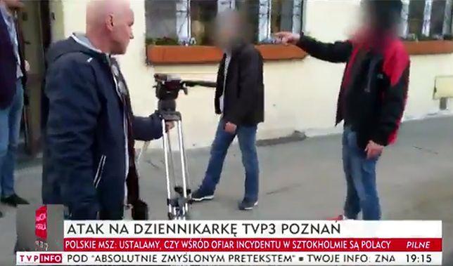 "Atak na ekipę TVP. ""Tobie, k…, poderżnę gardło"""