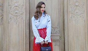 LOOK OF THE DAY: Jessica Alba w kontrastach Valentino