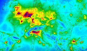 Mapa zanieczyszczeń powietrza Europy. W Polsce nie jest najgorzej