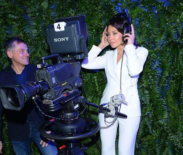 Anna Popek podczas prezentacji wiosennej ramówki TVP
