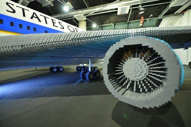Samolot z miliona klocków. Wystawa na Narodowym