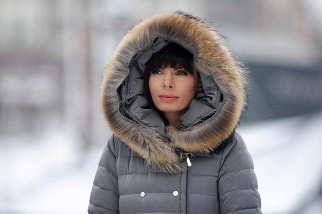 Agnieszka Dygant w camelowych botkach