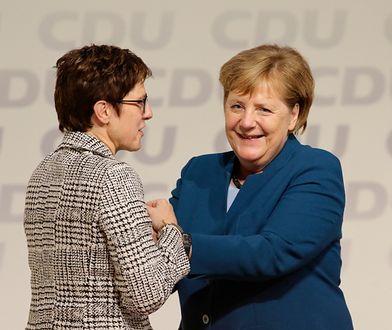 Angela Merkel i jej następczyni: Annegret Kramp-Karrenbauer