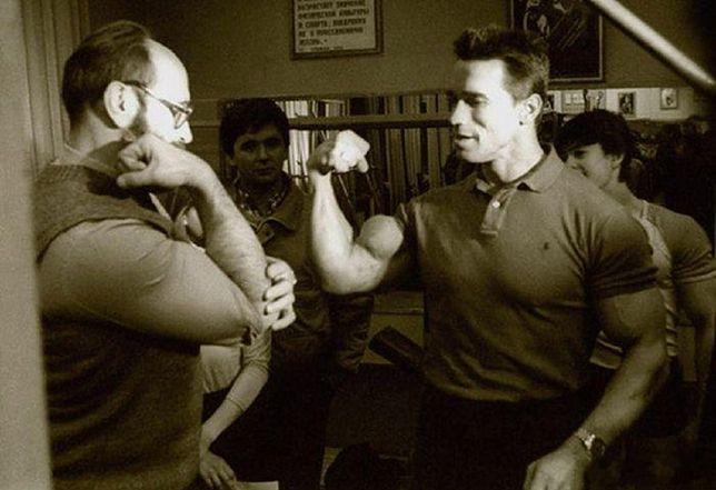 Arnold Schwarzenegger na zawodach kulturystycznych swojego imienia