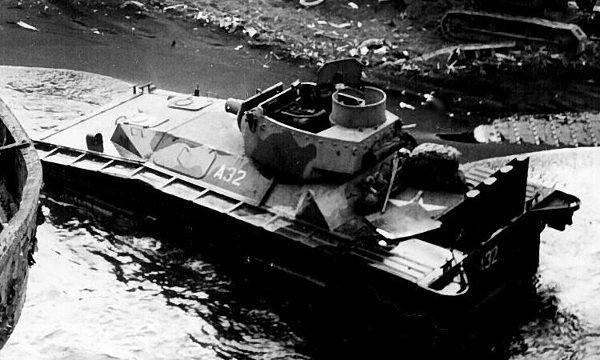 Gąsienicowy pojazd amfibijny - LVT