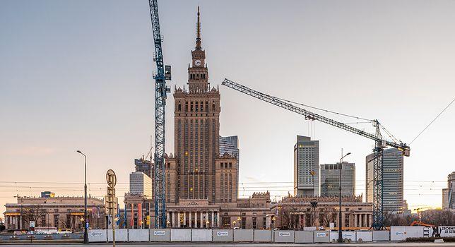 Warszawa. 21 lipca 2020 roku Pałac Kultury i Nauki kończy dokładnie 65 lat.