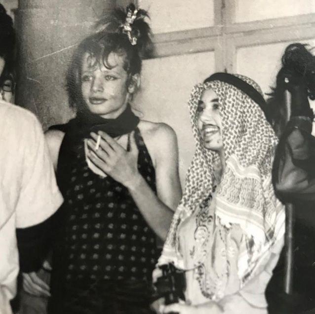Marcin Meller podczas święta szkoły w 1984 r.