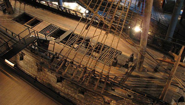 Szwedzki galeon Vasa, zbudowany w 1627 r., w tym samym, w którym rozegrała się bitwa pod Oliwą. Można go zobaczyć w Muzeum Vasa w Sztokholmie