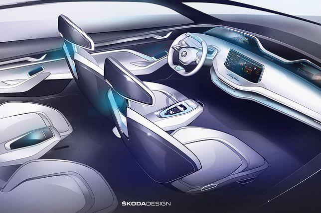 Skoda pokazała projekt wnętrza koncepcyjnego SUV-a Vision E