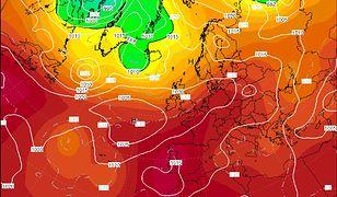Model pogodowy Wetter Zentrale dla Europy na godz. 12 dnia 3.08.2018 r.