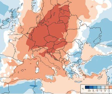 Anomalie w pogodzie. Cieplej o 3 stopnie C w porównaniu do średniej wieloletniej.
