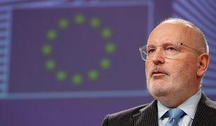 Frans Timmermans pochwalił Polskę za zmiany ws. praworządności w naszym kraju