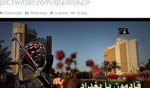 """Propaganda islamistów w mediach społecznościowych - zdjęcie """"Bagdadzie, nadchodzimy"""", które było rozpowszechniane przez Twittera, miało zostać stworzone przez dżihadystów z Państwa Islamskiego"""