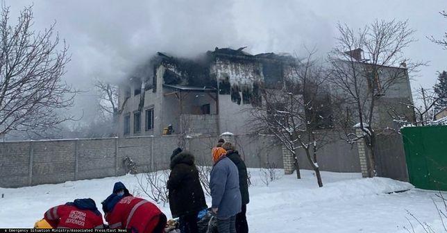 Ukraina. W pożarze domu opieki w Charkowie zginęło 15 osób