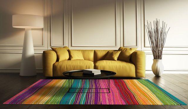 Modny dywan w wystroju wnętrza