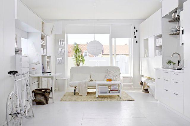 Powiększamy małe mieszkanie: jasne kolory