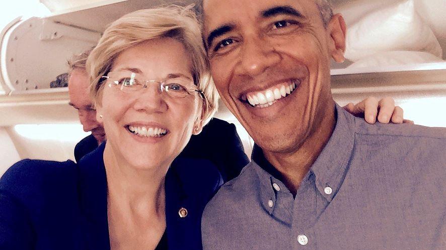Elizabeth Warren z Barackiem Obamą