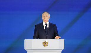 Władymir Putin podczas przemówienia przez Zgromadzeniem Federalnym