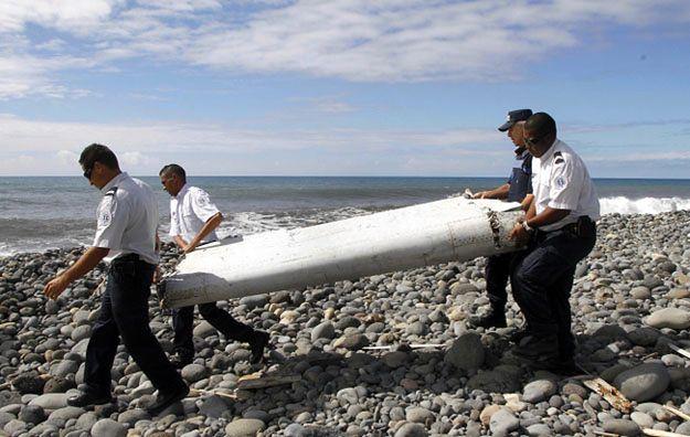 Odnaleziony fragment samolotu