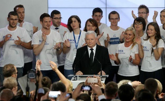Jarosław Kaczyński w czasie wieczoru wyborczego