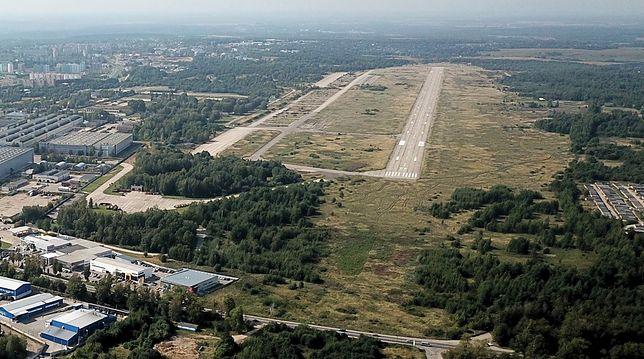 Panorama lotnicza miejsca katastrofy samolotu prezydenckiego Tu-154M w Smoleńsku