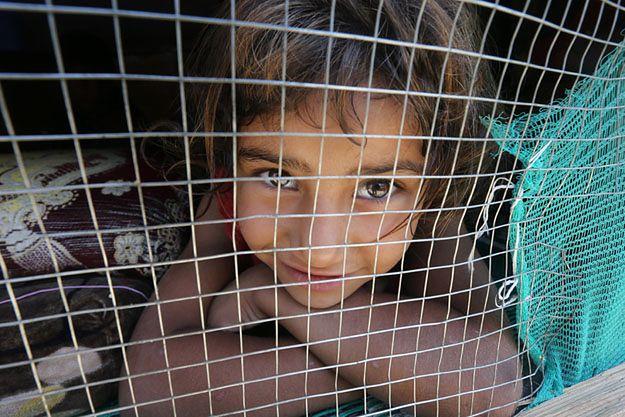 Syryjskie dziecko w ośrodku dla uchodźców w Libanie