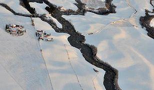 Rzeka błota w Norwegii