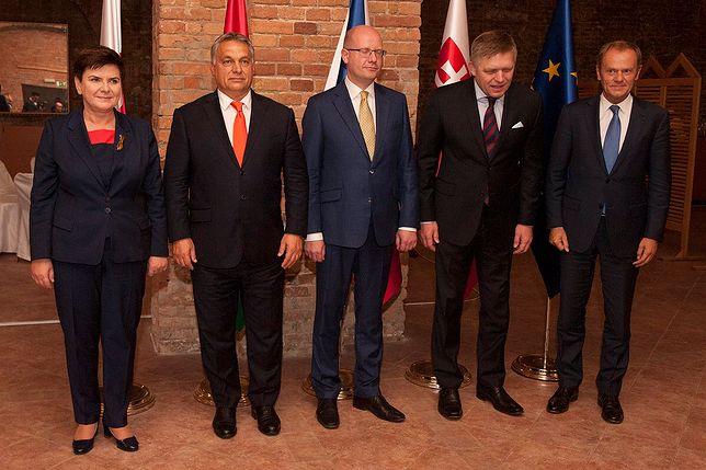 Szefowie państw V4 spotkali się z Donaldem Tuskiem