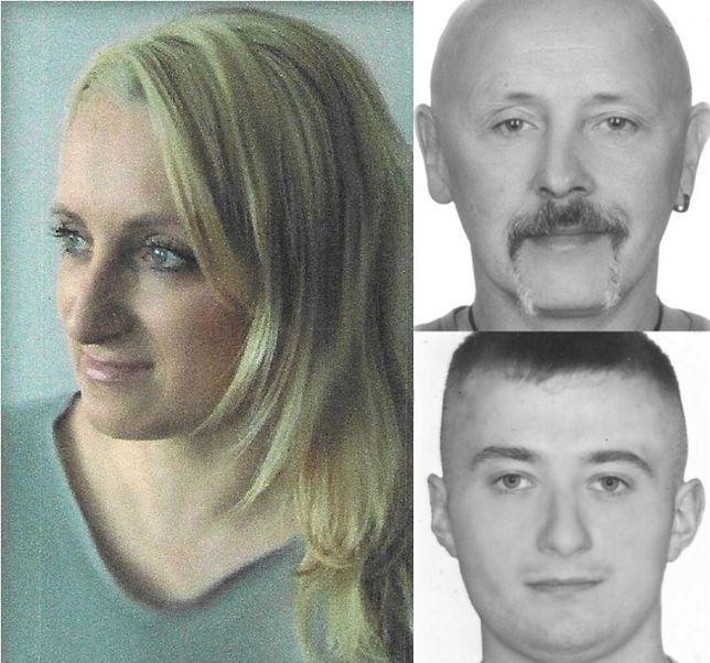 Zaginiona i dwóch mężczyzn podejrzanych o jej porwanie