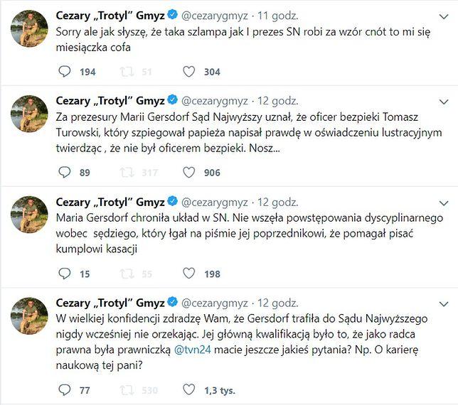 Cezary Gmyz zaatakował w sieci prof. Małgorzatę Gersdorf.