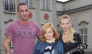 Przemysław Saleta z rodziną
