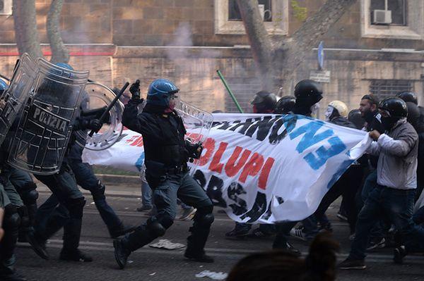 30 osób rannych podczas antyrządowej manifestacji w Rzymie