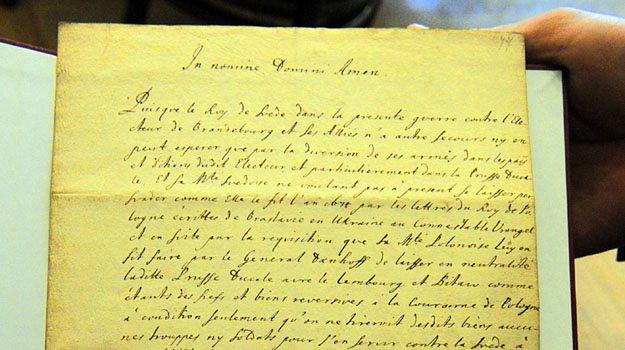 """""""Traktat gdański"""" w 1677 r. pomiędzy królem Janem III Sobieskim, a królem szwedzkim Karolem XI odzyskany przez fundację Blochów"""