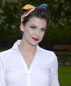 Alżbeta Lenska w telewizji śniadaniowej. Wystąpiła w odważnej skórzanej mini