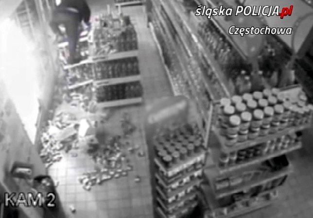 Częstochowa. Sklepowy włamywacz trafił prosto w ręce policjantów.