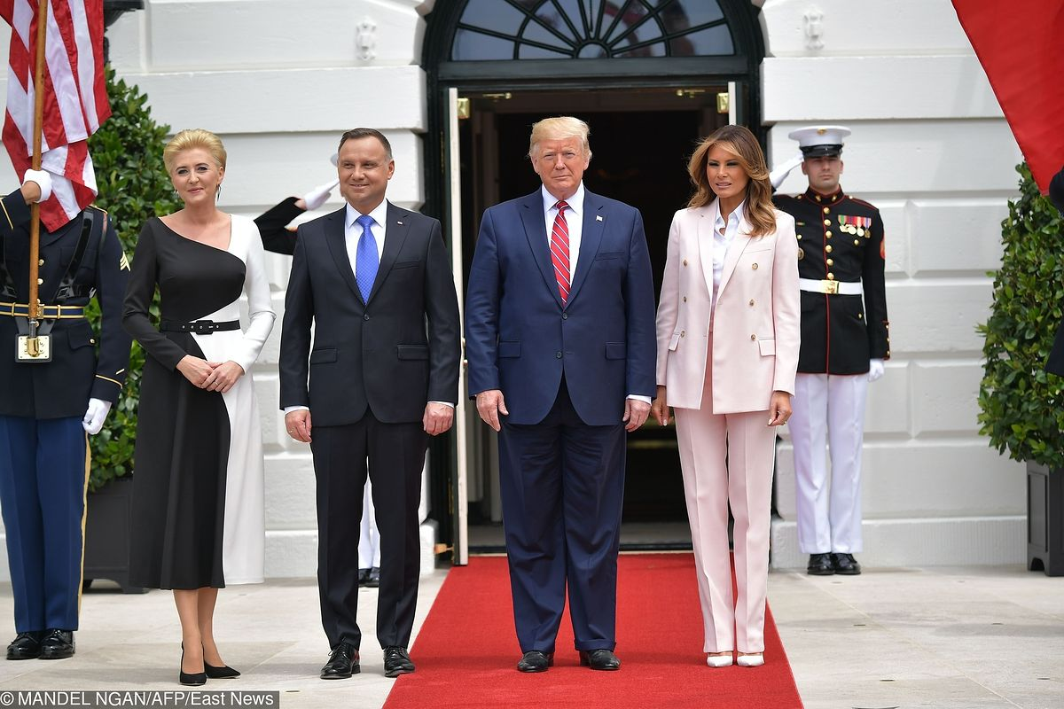 Para prezydencka już w Białym Domu. Świetna stylizacja Agaty Dudy