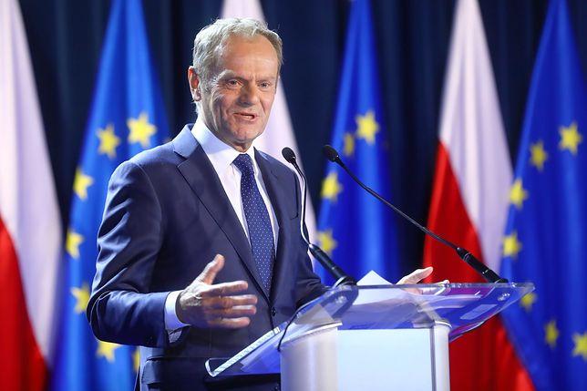 """Donald Tusk odbiera nagrodę Człowieka Roku """"Gazety Wyborczej"""""""