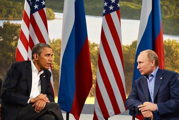 Barack Obama i Władimir Putin podczas spotkania szczytu G8 w 2013 r.