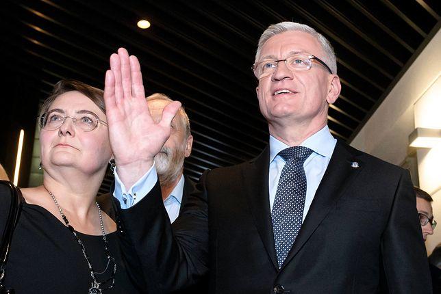 Wybory prezydenckie 2020. Jacek Jaśkowiak (prezydent Poznania), obok była żona Joanna Jaśkowiak (zdj. arch.)