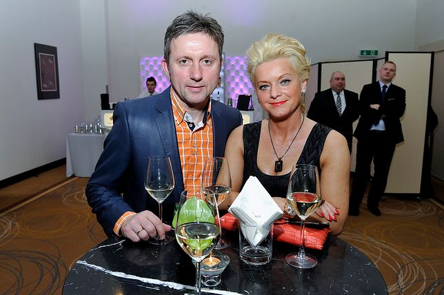 Jerzy Brzęczek z żoną