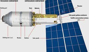 Rosyjski moduł, który ma być luksusowym hotelem na ISS.